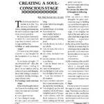 Page 1/3 of 'Creating a soul-conscious stage'