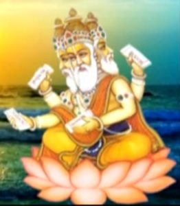 Spiritual Significance of Lord Brahma image