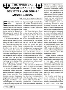 The Spiritual Significance of Dussehra and Diwali - Page 1/3