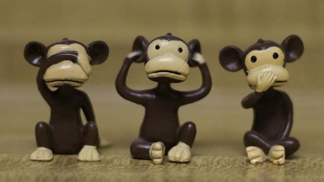 See No Evil, Hear No Evil, Speak No Evil Monkeys image