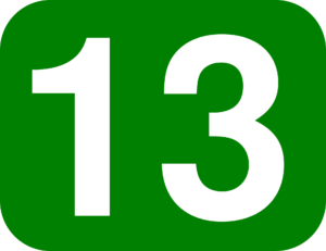 The lucky number 13 picture