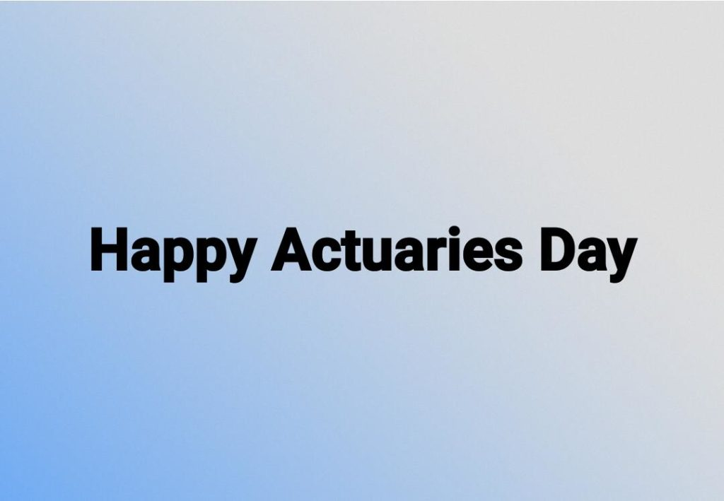 Spiritual Inspirations from Actuaries (Actuaries Day) image